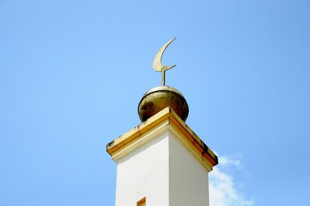 pahang: Architectural detail of Sultan Mahmud Mosque In Kuala Lipis Pahang Stock Photo