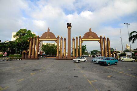 Pintu Gerbang Kota Sultan Ismail Petra in Kota Bharu Kelantan Malaysia. Editorial