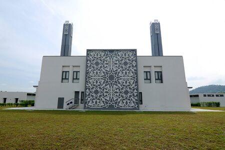 alam: Back view of Puncak Alam Mosque in Selangor, Malaysia Stock Photo