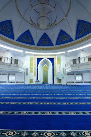 alam: Interior of Puncak Alam Mosque in Selangor, Malaysia