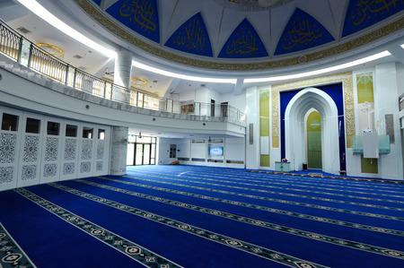 recite: Interior of Puncak Alam Mosque in Selangor, Malaysia