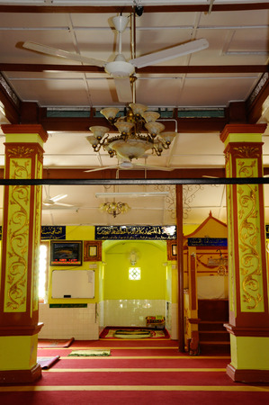 refurbish: Interior of  Masjid Kariah Dato Undang Kamat. The moosque was built on 1934 and refurbish by local government on 1980. It is located in Jempol district, Negeri Sembilan, Malaysia.
