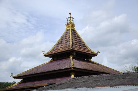 local government: Roof detail of Masjid Kariah Dato Undang Kamat. The moosque was built on 1934 and refurbish by local government on 1980. It is located in Jempol district, Negeri Sembilan, Malaysia. Stock Photo