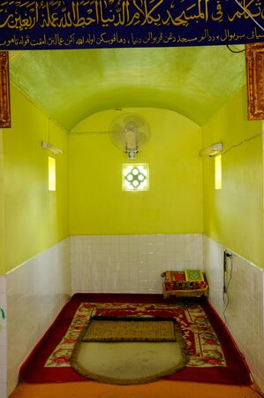 refurbish: Mihrab of  Masjid Kariah Dato Undang Kamat. The moosque was built on 1934 and refurbish by local government on 1980. It is located in Jempol district, Negeri Sembilan, Malaysia.