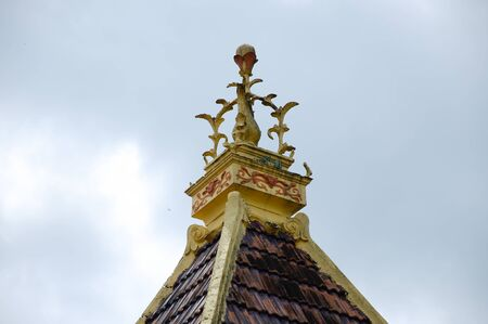 refurbish: Roof decoration detail at Masjid Kariah Dato Undang Kamat. The moosque was built on 1934 and refurbish by local government on 1980. It is located in Jempol district, Negeri Sembilan, Malaysia.