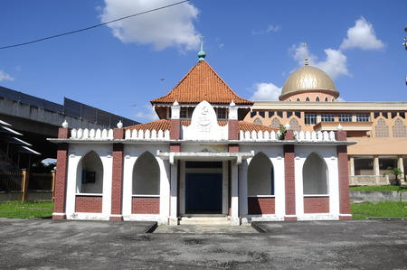 doa: KUALA LUMPUR, MALAYSIA  JANUARY, 2015: The Old Mosque of Masjid Jamiul Ehsan at Setapak Kuala Lumpur, Malaysia The mosque was built on 1933 and now put under conservation by Malaysian Government.