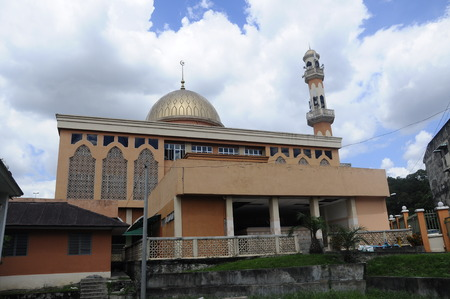 recite: KUALA LUMPUR, MALAYSIA  JANUARY, 2015: The new mosque of Masjid Jamiul Ehsan at Setapak Kuala Lumpur, Malaysia The mosque was built on 1991 and replaced the old Mosque nearby function. .