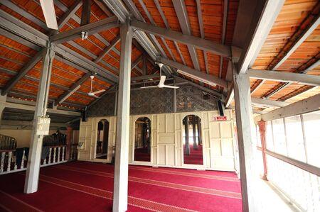 kelantan: Interior of Langgar Mosque at Kota Bharu, Kelantan, Malaysia