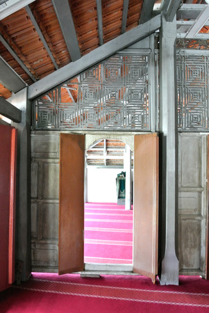 muhammad: Door of The Langgar Mosque located at Kota Bharu, Kelantan, Malaysia. The original wooden mosque builds on 1871 by Sultan Muhammad II, and enlarged on 1995.