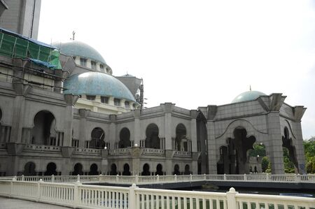 doa: The Federal Territory Mosque located at Kuala Lumpur, Malaysia on December 14, 2013. Open to public on 2000. The mosque can accommodate 17,000 worshippers at any one time.