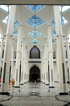 shah: Entrance of The Sultan Salahuddin Abdul Aziz Shah Mosque is the state mosque of Selangor, Malaysia