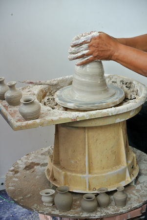 potter: Potter make the traditional water storage container