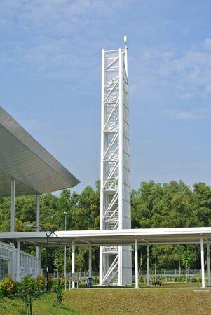 recite: Minaret of Ara Damansara Mosque in Selangor, Malaysia Stock Photo