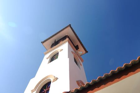 kampung: Minaret of Kampung Paloh Mosque in Ipon, Perak, Malaysia Stock Photo