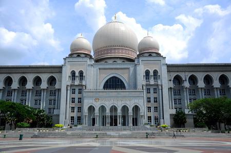 Palace of Justice or the Istana Kehakiman in Putrajaya, Malaysia Редакционное