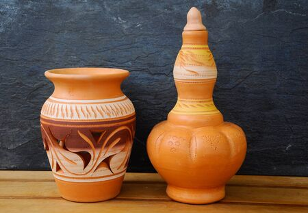 Malay traditional pottery designs which have been commercialized and diversified designs and sizes.
