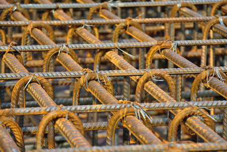 reinforcement: Hot rolled deformed steel bars or steel reinforcement bar.