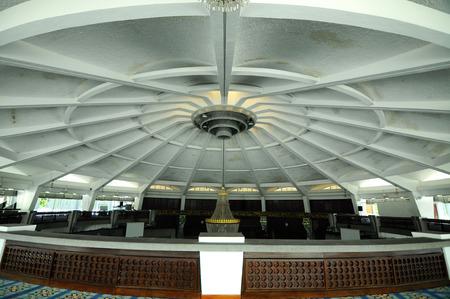 PENANG, MALAYSIA -APRIL 16, 2014: Main dome of Penang State Mosque or Masjid Negeri Pulau Pinang. It was a state mosque located in George Town, Penang, Malaysia. Editorial