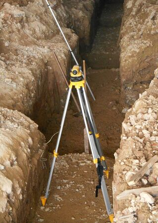 JOHOR, MALAYSIA -JULY 21, 2016: A survey equipment used by land surveyor at construction site to determine and levels and positions.