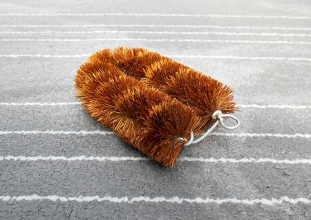 carpet clean: Brush coir is made from coconut hush. Biodegradable cleaning fiber brush. Used together with detergent to wash carpet