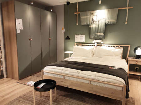 KUALA LUMPUR, MALAYSIA -MARCH 19, 2020: IKEA furniture showroom. The showroom is located in the IKEA store where large-sized sales items are placed to make it easier for customers to make payments. Redactioneel