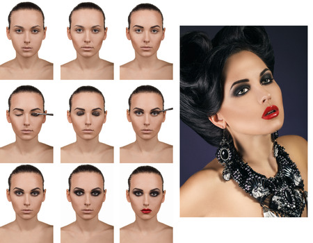 Stepping makeup. The final result in the image. photo