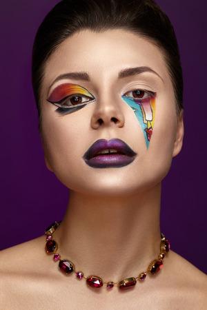 Beautiful Women With Luxury Makeup.