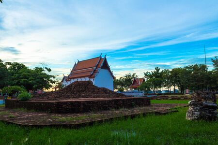 nonthaburi province: Buddhist site of Chueng Tha Na Bot is the among old Thai temple near the river, Nonthaburi province Thailand.