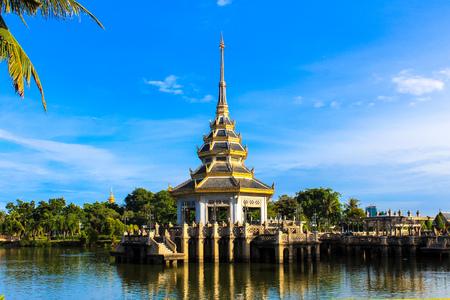nonthaburi province: The Pavilion of Chaloem Kanchanaphisek Park Nonthaburi province Thailand. Stock Photo
