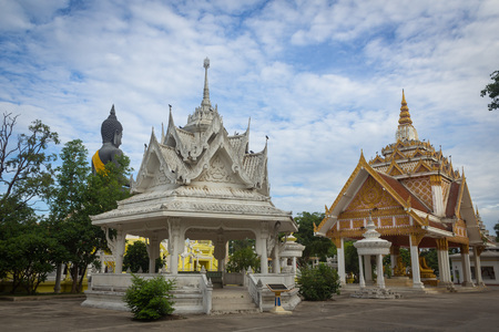 respectful: Black idol worship in Thai temple be respectful of many people. Stock Photo