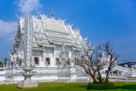 The White temple.Wat Rong Khun is one of the most visited attractions Chiang Rai, Thailand. Stock fotó
