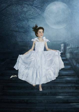 Cinderella on stairs