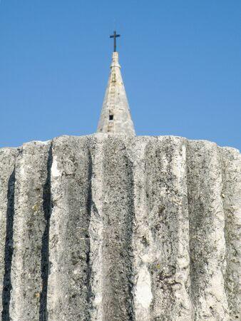 New vs old religion. Zadar. Old town Croatia. 版權商用圖片