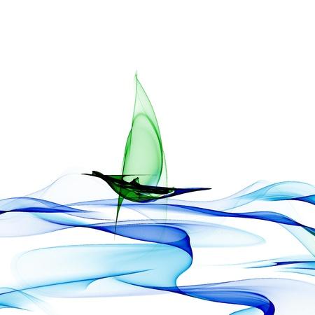 Sailing through waves photo