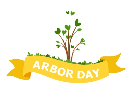 National Arbor Day Vector Illustration. For Greeting Card, Flyer, Poster and Banner