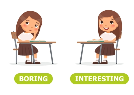 Girl is sitting and she is bored, she is interested.