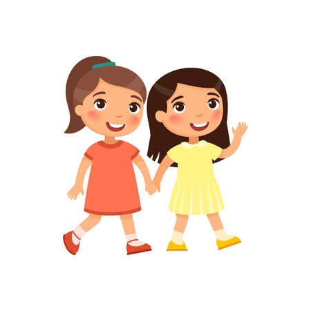 preschool girl illustration