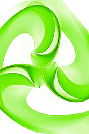 An computer generated abstract image showing concept of recycle for Go Green.