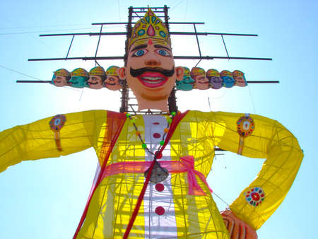 A image showing statue of a evil character called