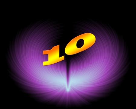 10 or 10th anniversary in artistic design Stock Photo - 11420021