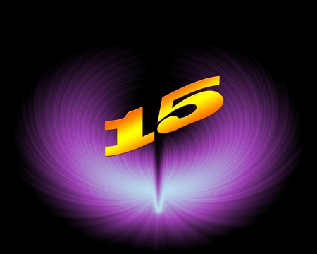 fifteen: 15 or 15th anniversary in artistic design