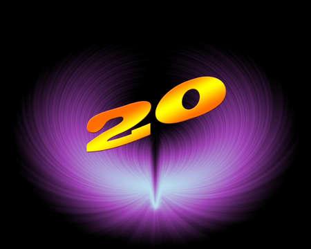 20 or 20th anniversary in artistic design Stock Photo - 11420029