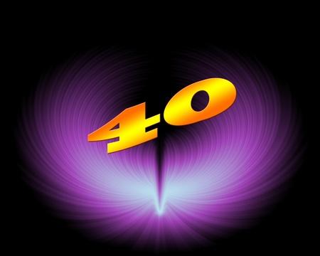 40 or 40th anniversary in artistic design Stock Photo - 11420023