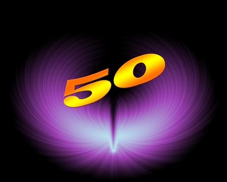 芸術的なデザインで 50 または 50 周年記念
