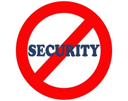 no security, no peace Stock Photo