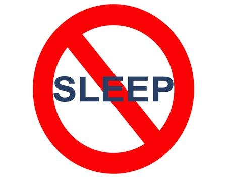 geen slaap of slapeloosheid