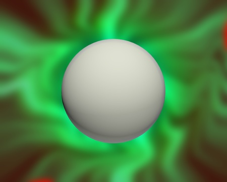 sphere with plasma effects around for backgrouns