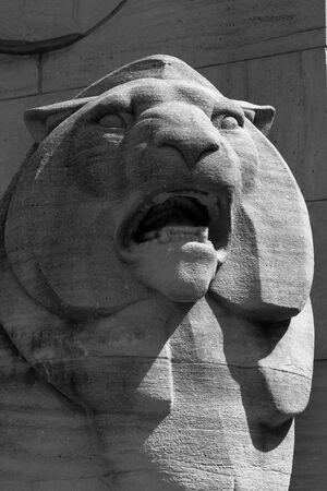 사자 동상 스톡 콘텐츠
