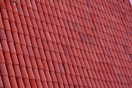 red clay: red clay roof tiles Stock Photo