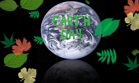 earth day concept with planet surrounded by leaves for conservation Stock fotó